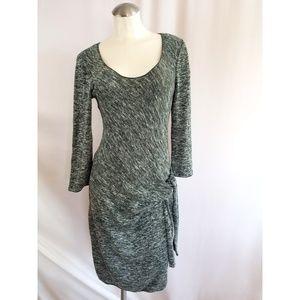 Max Studio Size M Green Knit Dress Midi